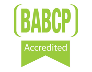 BABCP - Accredited Cognitive Behavioural Psychotherapist.