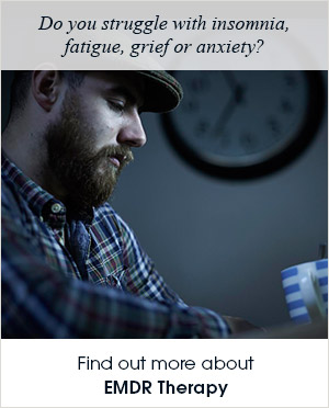 Do you struggle with insomnia, fatigue, grieg or anxiety? Find out more anout EMDR Therapy.