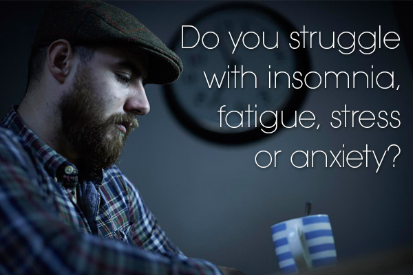Do you struggle with insomnia, fatigue, stress or anxiety?